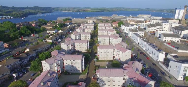 birds eye view of the Pembroke Street estate
